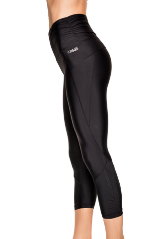 Crease 3/4 Tights - Black