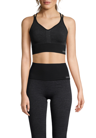 Casall Seamless Sports Top - Dark Grey Melange