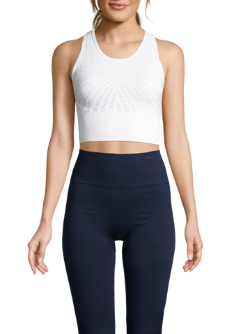 Casall Open Structure Sports Top - White
