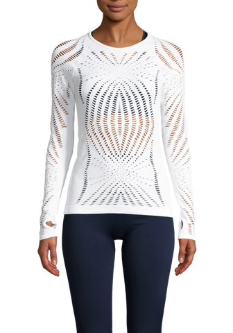 Casall Open Structure Long Sleeve - White
