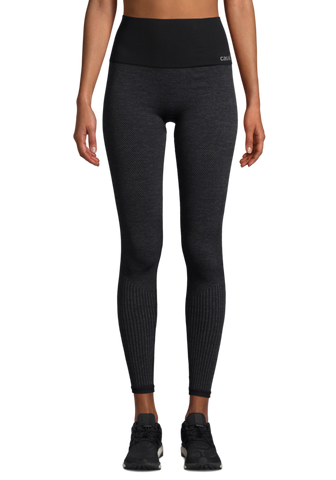 Casall Seamless Tights - Dark Grey Melange