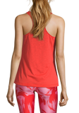 Casall Textured Loose Racerback - Sunset Red