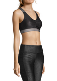 Casall Leatherlike Glam Sports Top