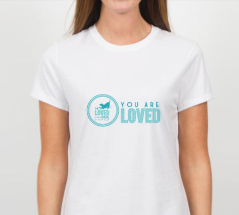 """You Are Loved"" Tee Pure White"