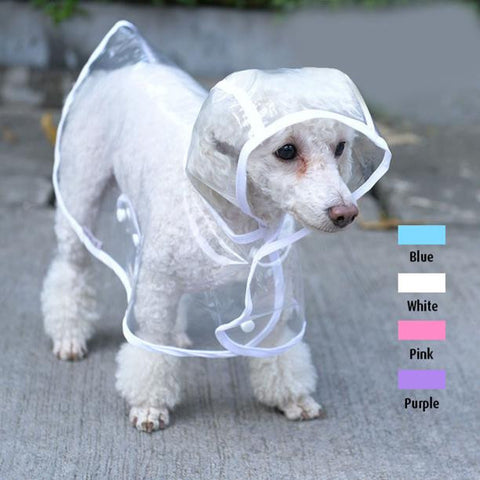 Clear Pet Raincoat