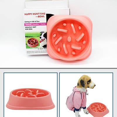 New Anti-Choking Dog Bowl To Prevent Obesity - Choice of Three Colors