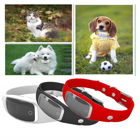 Mini Silicon Pet Collar GPS Tracker/Global Locator  GPS+LBS+WIFI Geofence Free APP
