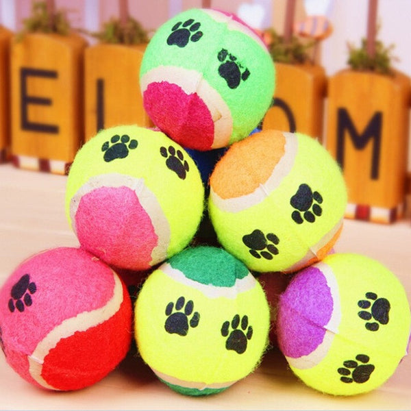 Candy Color Dog Toy Tennis Balls