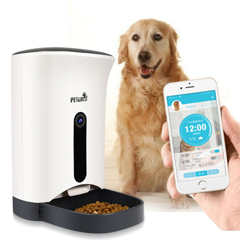Pet  Automatic Timer Feeding Machine   - Smart, Remote Control Dog Cat Feeder with Intelligent Video Camera