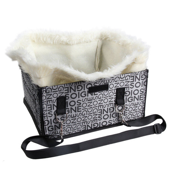 Soft Plush Car Booster Seat Carrier for Dogs and Cats