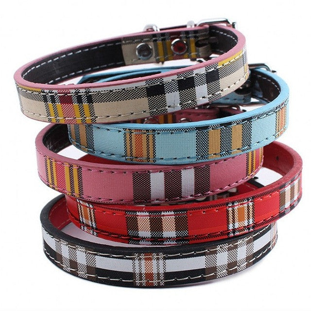 Classic Plaid Collars For Small Dogs