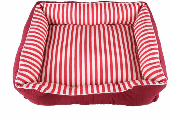 Elegant Classic Striped Bed for Dogs & Cats