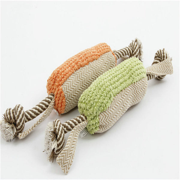 Squeaky Dog Rope Toy