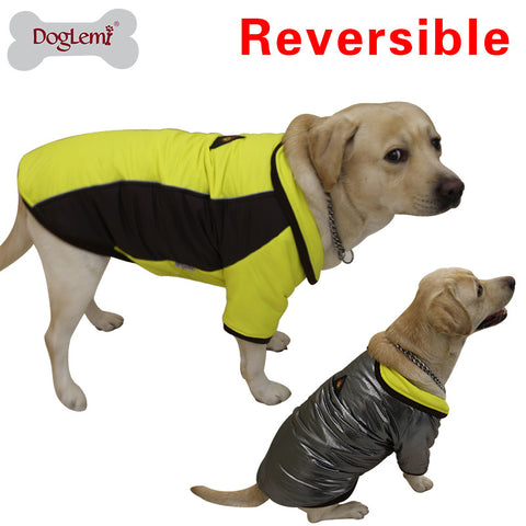 Heat Reflective Dog Coat - Great for Outdoors - Waterproof, Warm, and Reversible