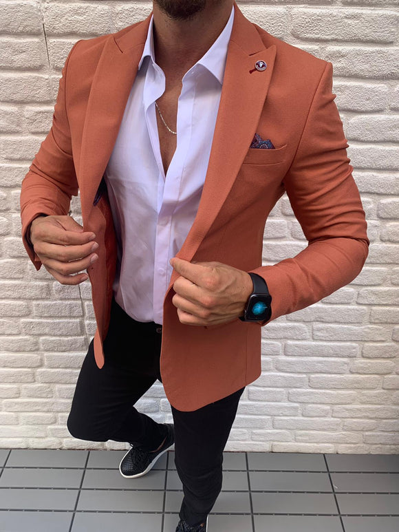 Hollanden's Slim-fit Burnt Orange Blazer