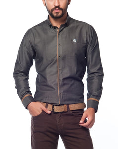 David Gingola Accented casual Shirt - Aris-fashion-imperium-ja - 1