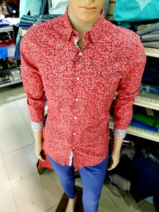 Estivanelli Peach floral long sleeve shirt