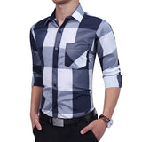 Plaid Casual shirts, medium printed plaids.
