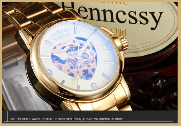 Ladies Exquisite Mechanical Watch time piece. - Ari's Fashion Imperium Ja - 1