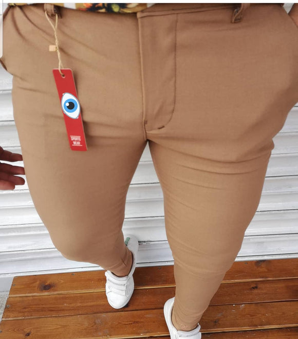 Men's Hello7 brown Slim-fit Sport Casual Pants