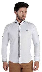 David Ginola Dual Acented casual cotton shirt