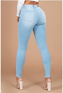 JUNIOR HIDE YOUR MUFFIN TOP HIGH-WAIST SKINNY JEANS