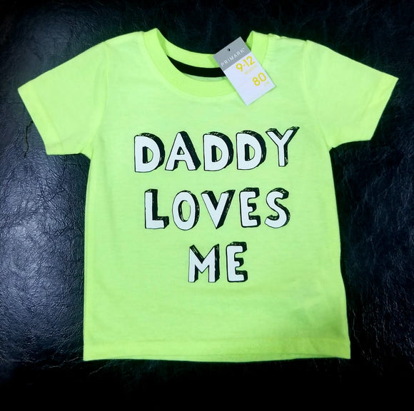 Next Uk Boys Yellow 'Daddy Loves Me' T-Shirt