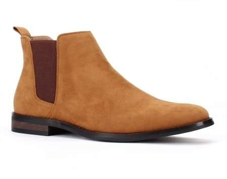 JXSN CAMEL BROWN SUEDE CHELSEA BOOTS