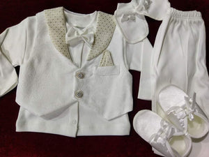 WHITE & GOLD BABY CHRISTENING SUITS,