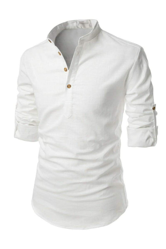 Men's henley shirts with roll up sleeves