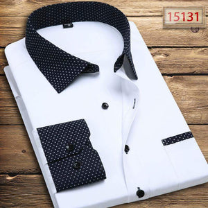 Star printed Contast white Oxford shirts