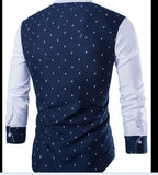 Men fashion Contrast skull print Shirts White (INT'L) - Aris-fashion-imperium-ja - 3