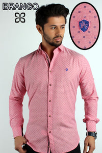 Pink Men's sunflower button down casual shirt - Ari's Fashion Imperium Ja - 1