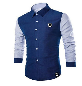 Brave Men Denim contrast men's shirt