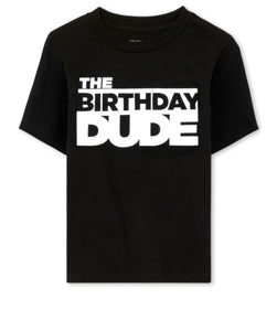 Boys Birthday black T-Shirt