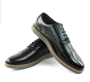 Jaxson Ultralight Black wingtip preferated casual shoes