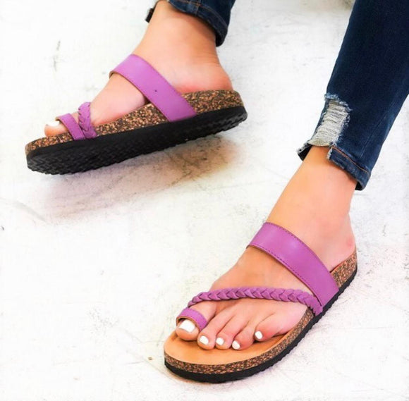 Ladies Board Walk Push Toe Sandals