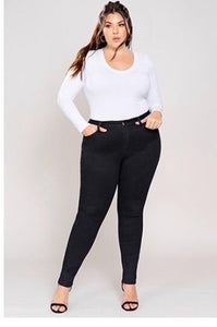 JUNIOR PLUS SIZE HIGH-RISE DENIM SKINNY JEAN
