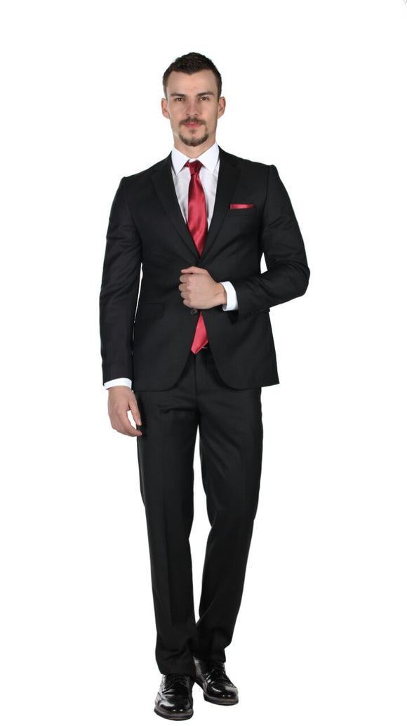 Black Slim-fit Suit designer suit
