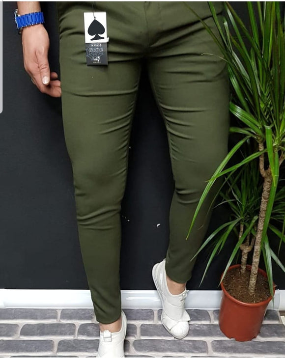 Men's Hello7 green Slim-fit Sport Casual Pants