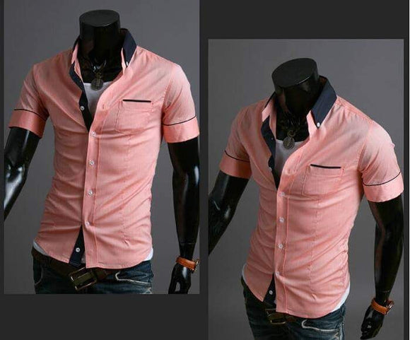 Men's Slimfit Peach Fashion shirts.