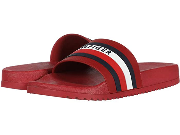 Tommy HIlfiger Riker red slides
