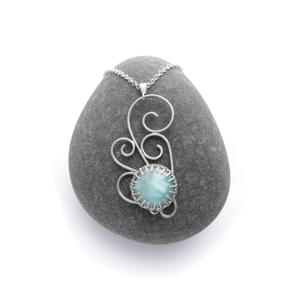 Nimbus - Sterling Silver and Larimar necklace