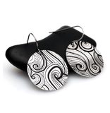 Lyra aluminum graphic earrings