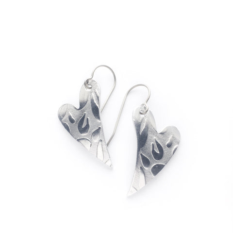 Superlight heart earrings - petals