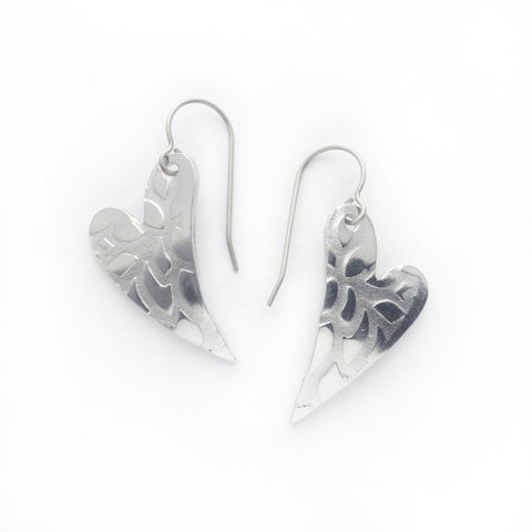 Superlight heart earrings - abstract