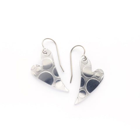 Superlight heart earrings - circles