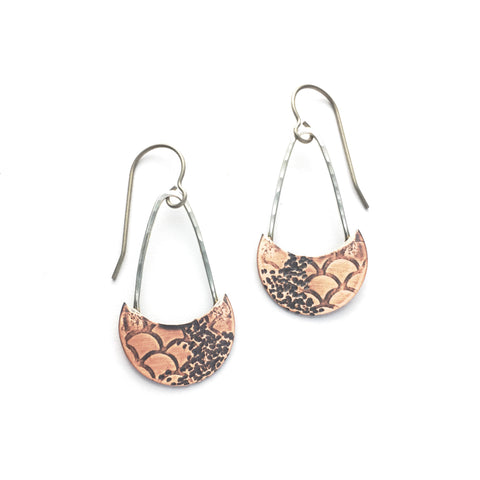 Moonfall Mermaid mini mixed metal earrings