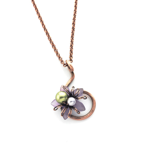 Delilah Blooming Spider Necklace