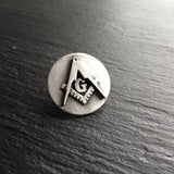Masonic Blue Lodge lapel pin in sterling silver